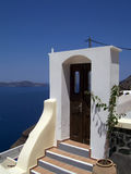Door on Santorini, greece Royalty Free Stock Photo