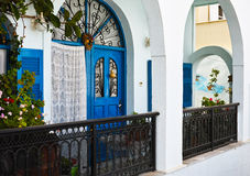 Door in Santorini Royalty Free Stock Photography