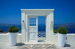 Door in Santorini. White door in Santorini, Greece stock images