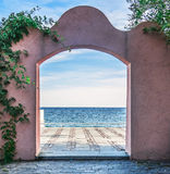 Door on the sea Stock Image