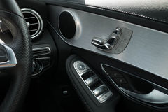 Door seat and mirror window car adjust button switch control Royalty Free Stock Photo