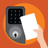 Door with security key card Stock Photography