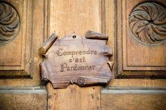Door and sentence Stock Photos