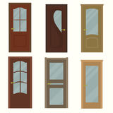 Door set for home. Vector illustration Stock Images