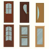 Door set for home. Vector illustration Royalty Free Stock Photos