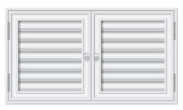 Door shutters on isolate background. Illustration of white pvc door shutters on isolate background Royalty Free Illustration
