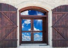 Door with shutters Stock Photos
