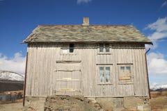 Door side of abandoned  Lofoten's house Royalty Free Stock Image