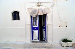 Door Sidi. Traditional Tunisian Door in Sidi Bu Said. Picture taken 11.07.2008 stock images
