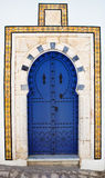 Door of Sidi Bou Said. La Gulett, Tunisia Royalty Free Stock Photo