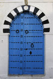 Door in Sidi Bou Said. Old door in Sidi Bou Said, Tunisia Stock Photo