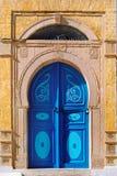 Door Sidi. Traditional Tunisian Door in Sidi Bu Said Stock Photo