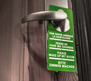 Door sign hanger - Please Make Up My Room Stock Photo