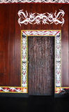 The Door. The sign of Kalimantan, Indonesia Stock Photography