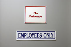 Door signs Stock Photo