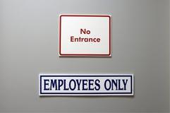 Door signs Stock Photo