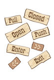 Door signs western Stock Photography