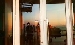 Door of Silhouette reflextion Stock Images