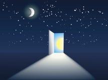 Door in the sky Royalty Free Stock Image