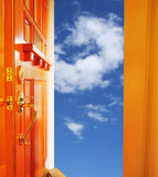 Door and sky Royalty Free Stock Photography