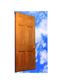 Door and sky Stock Photography