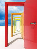 Door and sky Royalty Free Stock Image