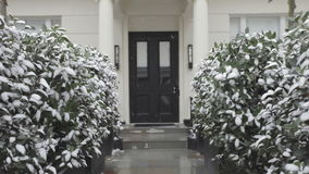 Door With Snow stock footage