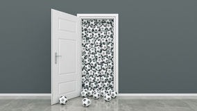 Door with Soccer Ball Stock Images