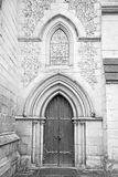Door southwark  cathedral in london england old construction and Royalty Free Stock Image