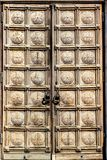 The door of St. Alexander Nevsky Cathedral, Sofia Royalty Free Stock Photography