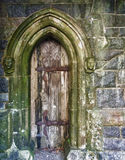 Door, St. Conans Kirk. Door of St. Conans Kirk, Loch Awe, Argyll and Bute, Scotland, an unique work that calls upon many different styles of church architecture Royalty Free Stock Photos
