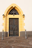 Door of the St. Laurentius church stock photo