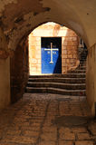 Door of St. Michael church. Jaffa. Royalty Free Stock Image