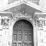 door st paul cathedral in london england old construction and re Royalty Free Stock Photo