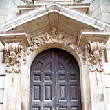 door st paul cathedral in london england old construction and re Royalty Free Stock Photos
