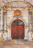 Door of the St. Ursus cathedral in Solothurn, Switzerland Stock Image