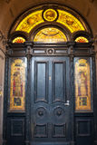 Door and stained glass Royalty Free Stock Image