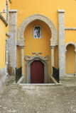 Door and stairs at palace of Pena Sintra - Portuga Stock Photo