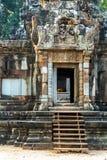 Door, stairway Angkor Wat, Khmer temple Royalty Free Stock Image