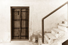 Door and stairway of traditional arabian house Stock Image