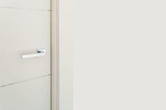 Door with steel handle Royalty Free Stock Image