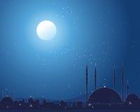 Door sterren verlichte moskee royalty-vrije illustratie
