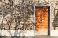 Door of a stone house Royalty Free Stock Image