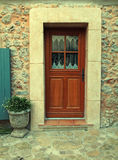 Door of stone wall house, Provence, France Royalty Free Stock Image