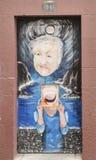 Door with street art Royalty Free Stock Photo