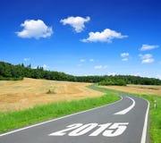 Door:sturen aan het Nieuwjaar 2015 Stock Afbeelding
