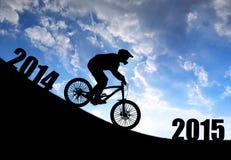Door:sturen aan het Nieuwjaar 2015 Stock Afbeeldingen