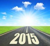 Door:sturen aan het Nieuwjaar 2015 Stock Foto's