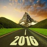 Door:sturen aan het Nieuwjaar 2016 stock fotografie