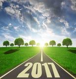 Door:sturen aan het Nieuwjaar 2017 Stock Fotografie